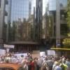 Около «прогоревших» вкладчиков перекрыли дорогу вКиеве— Митинг вгосударстве Украина